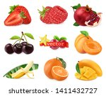 fresh fruits and berries.... | Shutterstock .eps vector #1411432727