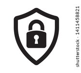 security sign. shield with... | Shutterstock .eps vector #1411458821