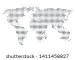 world map simple illustration.... | Shutterstock .eps vector #1411458827
