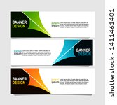 banner design with three... | Shutterstock .eps vector #1411461401