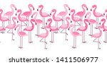 seamless border with cartoon... | Shutterstock .eps vector #1411506977