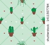 seamless pattern with small... | Shutterstock .eps vector #1411507784