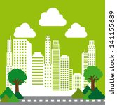 city design over green... | Shutterstock .eps vector #141155689