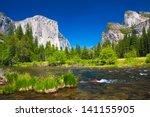 yosemite valley with el captain ... | Shutterstock . vector #141155905