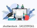 graduation cap with gray... | Shutterstock .eps vector #1411559261