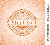 orient abstract emblem  orange...   Shutterstock .eps vector #1411613627