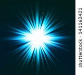 Light Flare Blue Effect. Vector