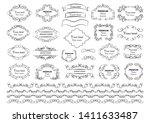 calligraphic design elements .... | Shutterstock .eps vector #1411633487