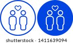 couple icon in circle. vector... | Shutterstock .eps vector #1411639094