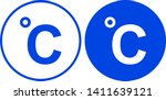 celsius icon in circle. vector... | Shutterstock .eps vector #1411639121