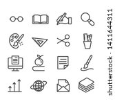 set of education icons.... | Shutterstock .eps vector #1411644311
