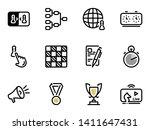 set of black vector icons ... | Shutterstock .eps vector #1411647431