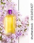 yellow bottle of women's...   Shutterstock . vector #1411651427