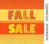 template design poster autumn... | Shutterstock . vector #1411666691