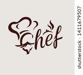 chef textual logo or emblem... | Shutterstock .eps vector #1411679507