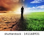 a climate change concept image | Shutterstock . vector #141168931