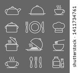 kitchen icons set  white on a... | Shutterstock .eps vector #1411734761