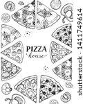 italian pizza vector... | Shutterstock .eps vector #1411749614