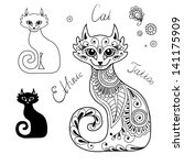 The Cats In The Ethnic Style....
