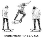 skateboarder | Shutterstock . vector #141177565