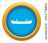 small boat icon blue vector...