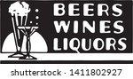beers wines liquors   retro ad... | Shutterstock .eps vector #1411802927