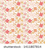 small blooming flowers pattern. ... | Shutterstock .eps vector #1411807814
