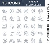 set of vector line icons of... | Shutterstock .eps vector #1411814471