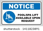 pool and spa lift for disabled... | Shutterstock . vector #1411823891