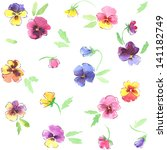 watercolor seamless colorful... | Shutterstock . vector #141182749