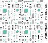 seamless pattern with vector... | Shutterstock .eps vector #1411839131