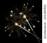 christmas sparklers vector...   Shutterstock .eps vector #141184501
