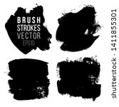 set of brush strokes. abstract... | Shutterstock .eps vector #1411855301
