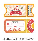 tickets to circus or amusement... | Shutterstock .eps vector #1411862921