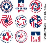 collection of fourth of july... | Shutterstock .eps vector #1411876367