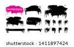 hand drawn brush strokes... | Shutterstock .eps vector #1411897424