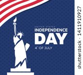 usa independence day 4th of... | Shutterstock .eps vector #1411910927