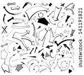 arrows. vector.  hand drawn  | Shutterstock .eps vector #141191821