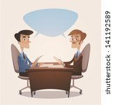 business consulting. retro... | Shutterstock .eps vector #141192589