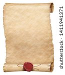 old worn parchment scroll with... | Shutterstock . vector #1411941371