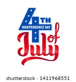 4th of july. usa independence... | Shutterstock .eps vector #1411968551