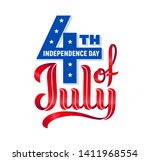 4th of july. usa independence... | Shutterstock .eps vector #1411968554