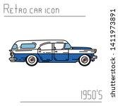 color vector icon american...   Shutterstock .eps vector #1411973891