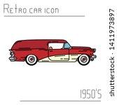 color vector icon american...   Shutterstock .eps vector #1411973897