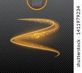 golden light effect on... | Shutterstock .eps vector #1411979234