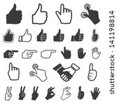 hand icon. vector set. | Shutterstock .eps vector #141198814