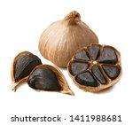 Tasty Black Garlic Isolated On...