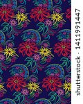 seamless pattern in the form of ... | Shutterstock .eps vector #1411991447