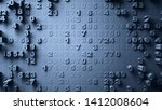 abstract numbers random motion... | Shutterstock . vector #1412008604