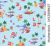 i made hawaiian shore scenery a ...   Shutterstock .eps vector #1412008637